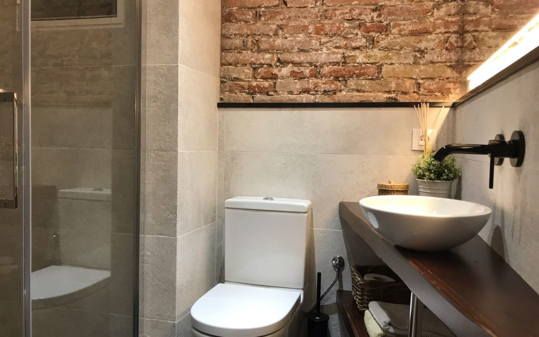 Reforma baño obra vista